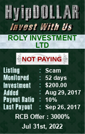 hyipdollar.com - hyip roly investment